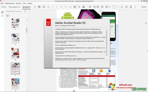 Képernyőkép Adobe Acrobat Reader DC Windows 7