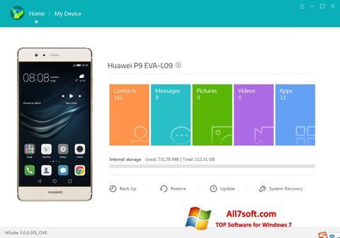 Képernyőkép Huawei HiSuite Windows 7