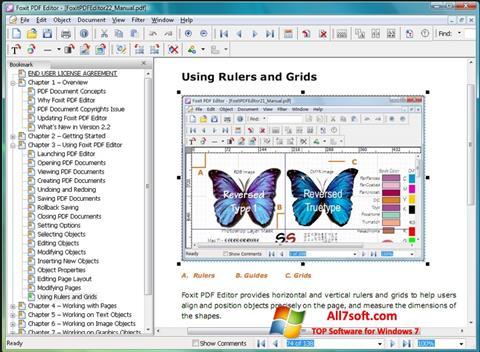 Képernyőkép Foxit PDF Editor Windows 7