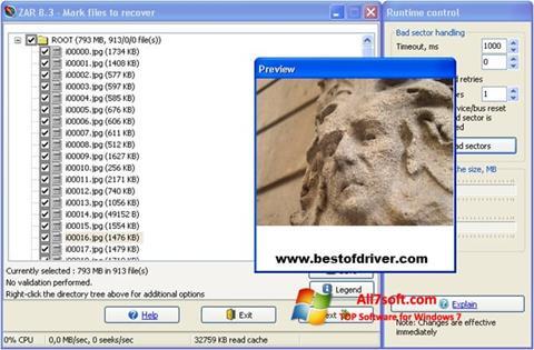 Képernyőkép Zero Assumption Recovery Windows 7