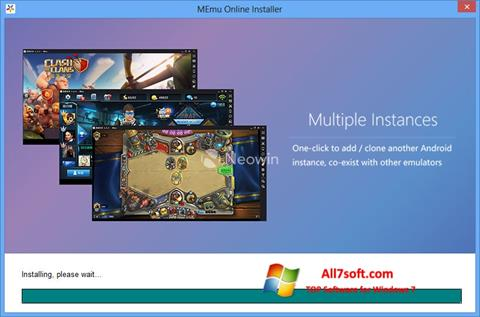 Képernyőkép MEmu Windows 7