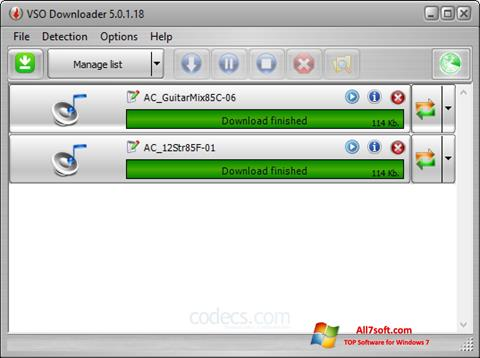 Képernyőkép VSO Downloader Windows 7