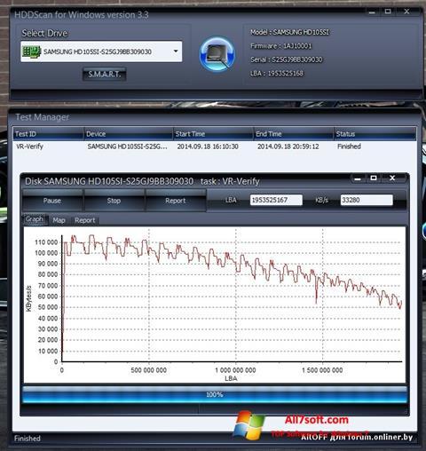 Képernyőkép HDDScan Windows 7