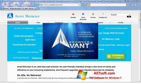 Képernyőkép Avant Browser Windows 7