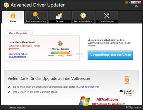 Képernyőkép Advanced Driver Updater Windows 7