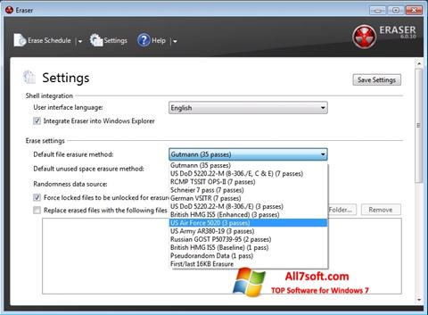 Képernyőkép Fast Folder Eraser Windows 7