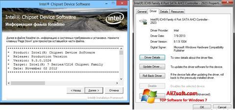 Képernyőkép Intel Chipset Windows 7