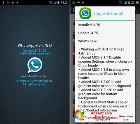 Képernyőkép WhatsApp Plus Windows 7