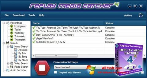 Képernyőkép Replay Media Catcher Windows 7