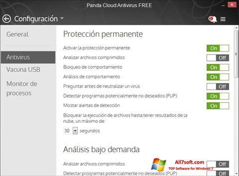 Képernyőkép Panda Cloud Windows 7
