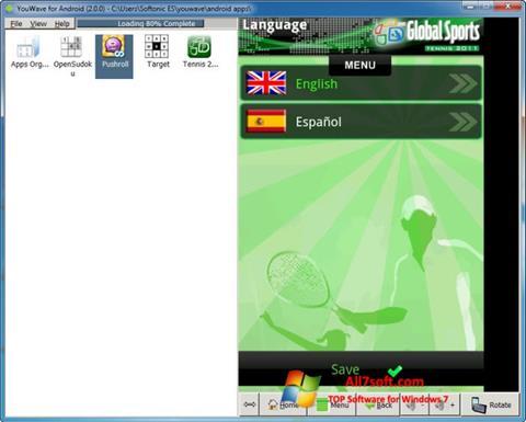 Képernyőkép YouWave Windows 7