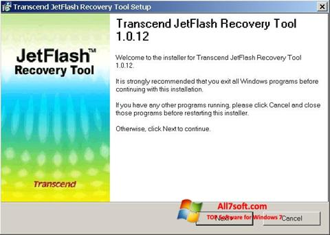 Képernyőkép JetFlash Recovery Tool Windows 7