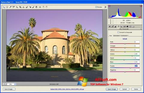 Képernyőkép Adobe Camera Raw Windows 7