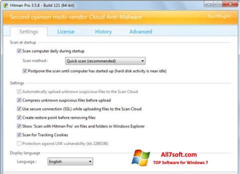 Képernyőkép HitmanPro Windows 7