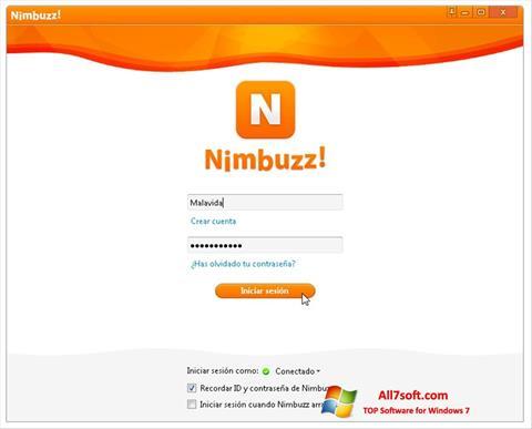 Képernyőkép Nimbuzz Windows 7
