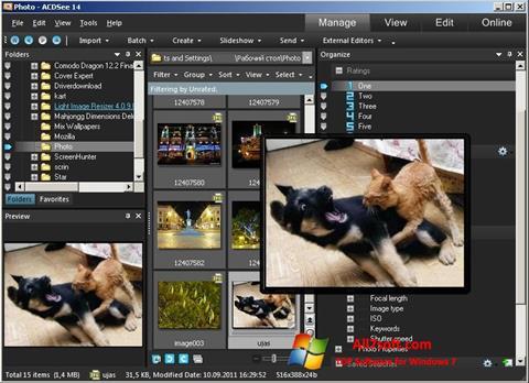 Képernyőkép ACDSee Photo Manager Windows 7