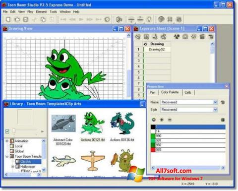 Képernyőkép Toon Boom Studio Windows 7