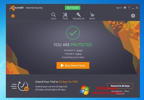 Képernyőkép Avast Internet Security Windows 7