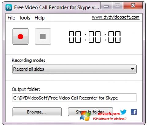 Képernyőkép Free Video Call Recorder for Skype Windows 7