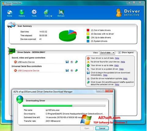 Képernyőkép Driver Detective Windows 7