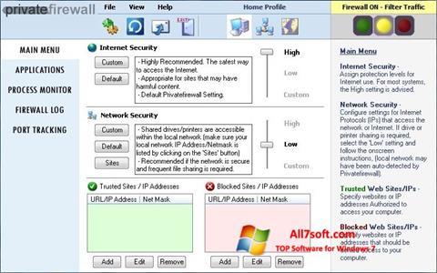 Képernyőkép Privatefirewall Windows 7