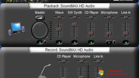 Képernyőkép SoundMAX Windows 7