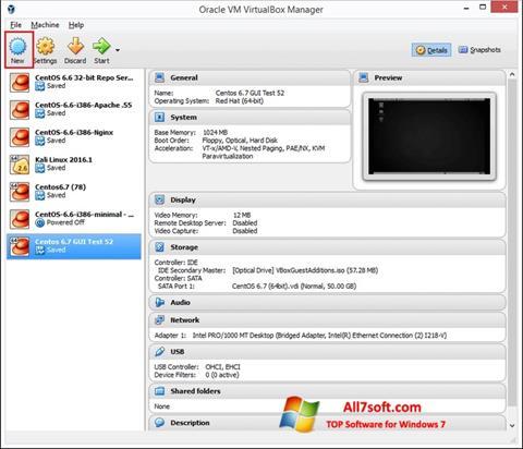 Képernyőkép VirtualBox Windows 7