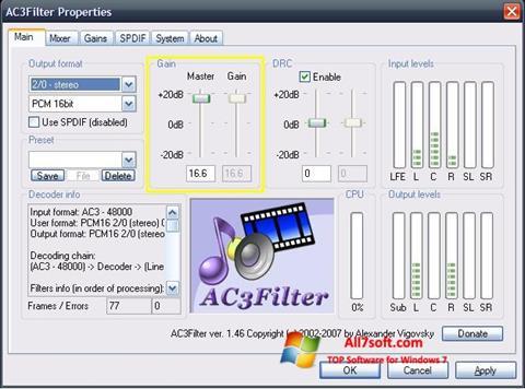 Képernyőkép AC3Filter Windows 7