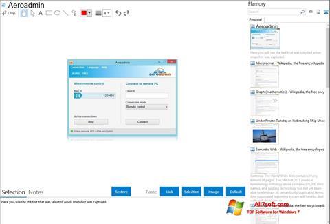 Képernyőkép AeroAdmin Windows 7