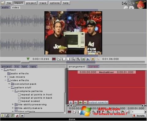 Képernyőkép ZS4 Video Editor Windows 7
