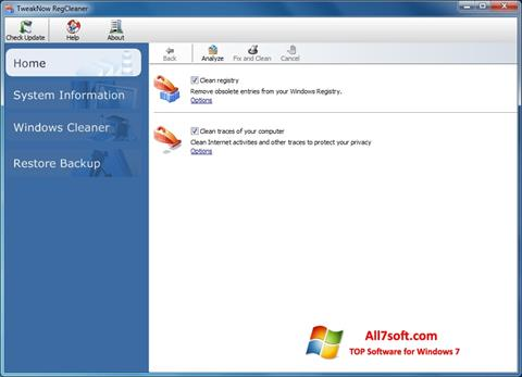 Képernyőkép TweakNow RegCleaner Windows 7