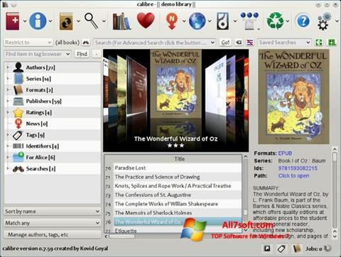Képernyőkép Calibre Windows 7