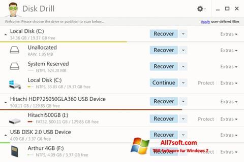 Képernyőkép Disk Drill Windows 7