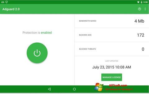 Képernyőkép Adguard Windows 7