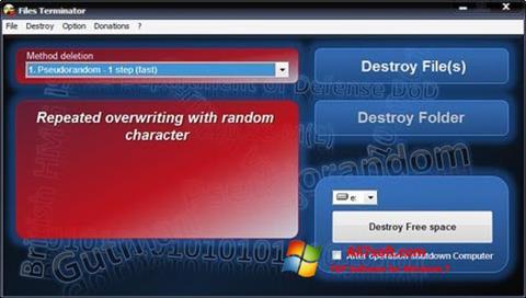 Képernyőkép Files Terminator Windows 7
