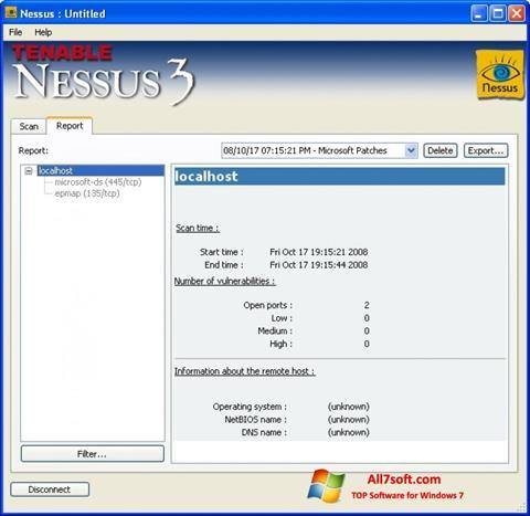Képernyőkép Nessus Windows 7