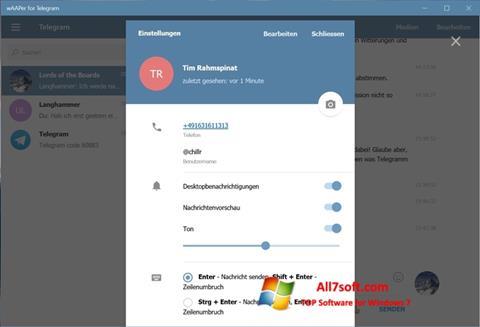 Képernyőkép Telegram Windows 7