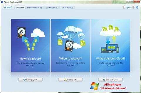 Képernyőkép Acronis True Image Windows 7