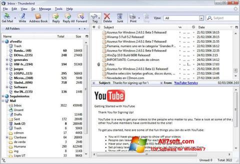 Képernyőkép Mozilla Thunderbird Windows 7