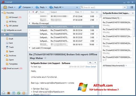 Képernyőkép FoxMail Windows 7
