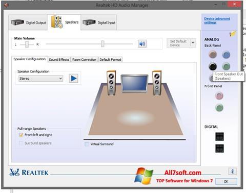 Képernyőkép Realtek HD Audio Windows 7