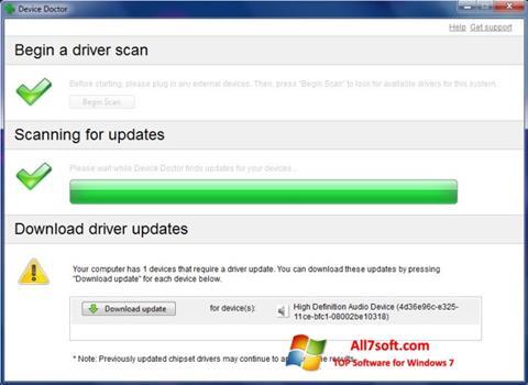 Képernyőkép Device Doctor Windows 7