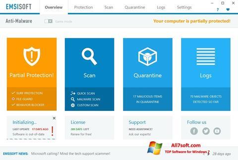 Képernyőkép Emsisoft Anti-Malware Windows 7