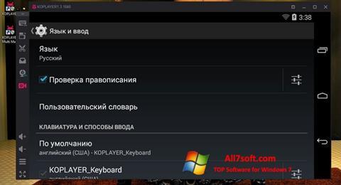 Képernyőkép KOPLAYER Windows 7