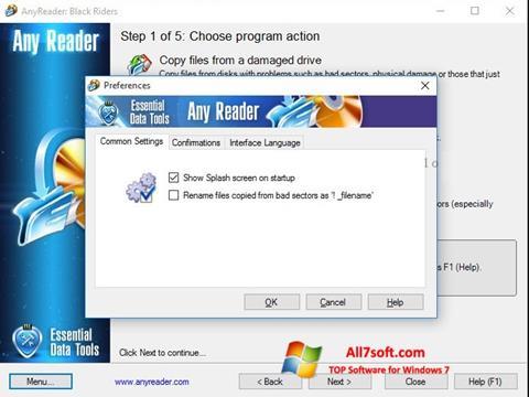 Képernyőkép AnyReader Windows 7