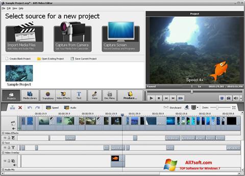 Képernyőkép AVS Video Editor Windows 7
