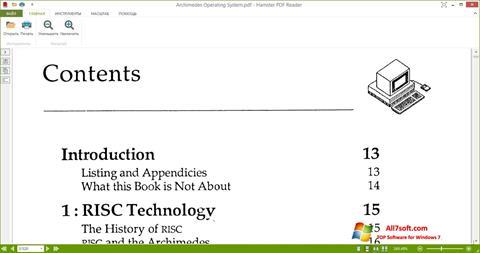 Képernyőkép Hamster PDF Reader Windows 7