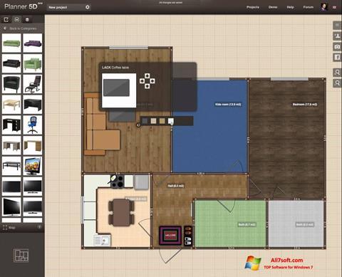 Képernyőkép Planner 5D Windows 7