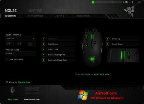 Képernyőkép Razer Synapse Windows 7