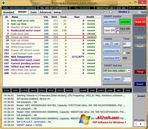 Képernyőkép Victoria Windows 7